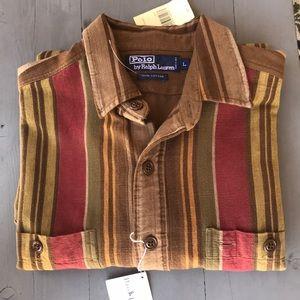 Polo by Ralph Lauren, stripe, button down shirt.